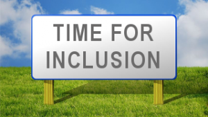 Time for Inclusion sign