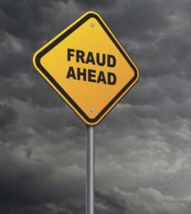 Fraud Ahead street sign